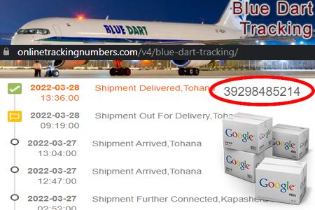 Online Blue Dart Tracking Number Barcode