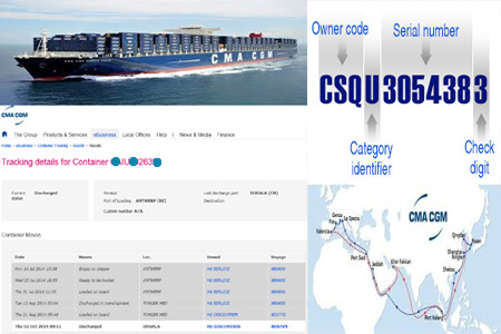 Online CMA CGM Tracking Number Barcode