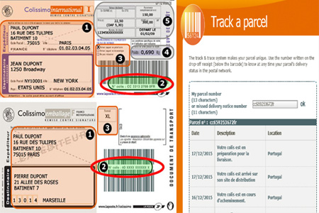 Online Colissimo Tracking Number Barcode