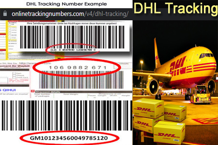 Online DHL Tracking Number Barcode