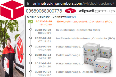 Online DPD Tracking Number Barcode