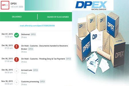 Online DPEX Tracking Number Barcode