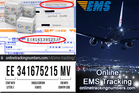 Online EMS Tracking Number Barcode