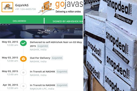 Online GojaVAS Tracking Number Barcode