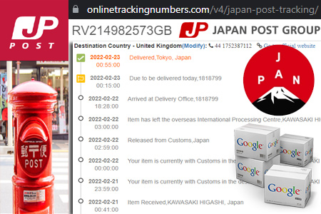 Online Japan Post Tracking Number Barcode