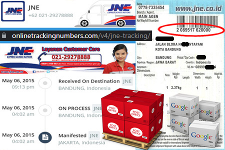 Online JNE Tracking Number Barcode
