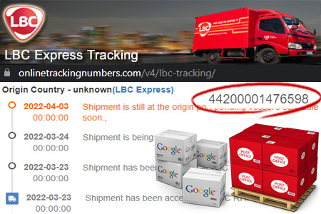 Online LBC Tracking Number Barcode