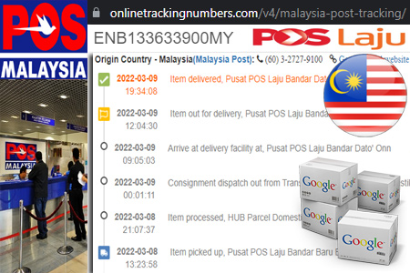 Online Malaysia Post Tracking Number Barcode