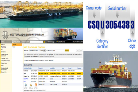 Online MSC Tracking Number Barcode