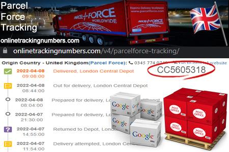 Online Parcelforce Tracking Number Barcode