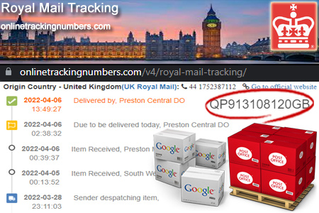 Online Royal Mail Tracking Number Barcode