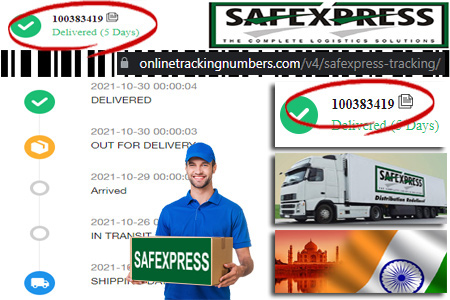 Online Safexpress Tracking Number Barcode