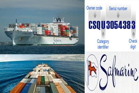 Online Safmarine Tracking Number Barcode