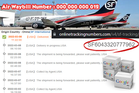 Online SF Tracking Number Barcode