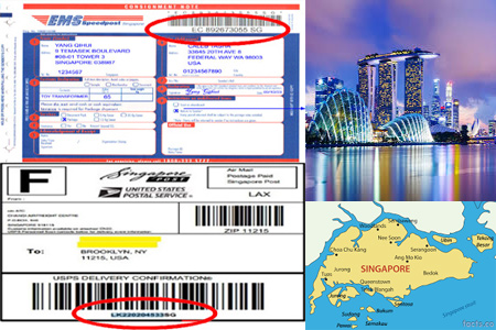 Online Singapore Post Tracking Number Barcode