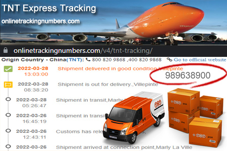 Online TNT Tracking Number Barcode